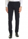 Slim Fit Trousers In Blue With Check Pattern