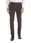 Slim Fit Trousers In Grey With Check Pattern