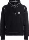 Tigre Sweatshirt In Black Cotton With Hood And Front Logo