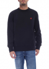 Black Sweatshirt With Red Patch