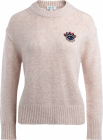Sweater In Pink Wool With Frontal Pearl Application