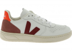 V 10 Sneakers In White With Burgundy V