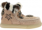 Eskimo Trainer Sneakers In Pink Shearling