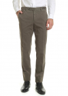 Mud colored Stretch Cotton Trousers
