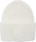 Maxi Logo Beanie In Ivory Color