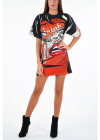 Couture Printed Short Sleeve Dress