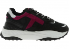 Black Chunky Sneakers With Cyclamen Detail