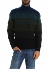 Turtleneck Pullover In Black Green And Blue