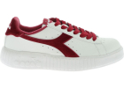 Game Step Smooth Sneakers In White And Burgundy