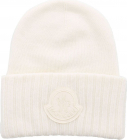 Beanie In Ivory colored With Maxi Logo