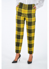 Virgin Wool Checked Pants