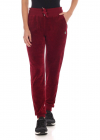 Shui Trousers In Burgundy Velvet