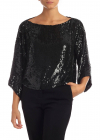 Goody Blouse In Black Sequins