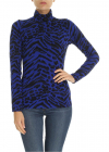 Bluette Turtleneck With Animal Print