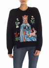 Black Pullover With Multicolor Patches