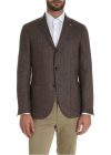 Single breasted Jacket In Shades Of Brown And Blue