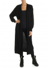 Long Knitted Cardigan In Black