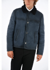 Suede Leather Jacket With Real Fur