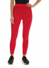 Red Leggings With Branded Bands