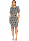 Floral Print Puff Sleeve Sheath Dress Cd8c35gb