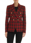 Alicya Jacket In Red Brown And Blue