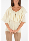 Frilled Sleeve ¾ Blouse