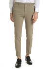 Tight Fit Trousers In Beige Cotton