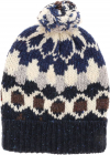 Beanie In Shades Of Blue With Pom pon