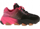 Extasy Sneakers In Black And Fuchsia