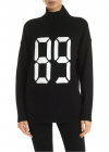 89 High Neck Pullover In Black