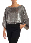 Goody Blouse In Grey Sequins