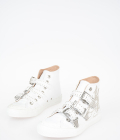Studded Leather High Sneakers