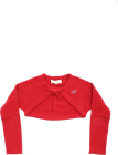 Red Crop Cardigan With Bow
