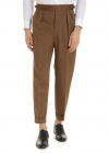 Haversack Cotton Trousers In Brown