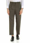 Haversack Cotton Trousers In Army Green Color