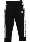 Branded Side Bands Trousers In Black