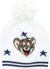 Jerry Bobble Beanie In White