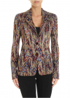 Viscose Jacquard And Wool Multicolor Jacket