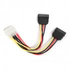Cablu Alimentare 1 X 5.25  Molex Mama La 2 X Sata 30cm Gembird  cc sata psy 0.3m
