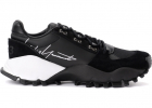 Kyoi Trail Sneaker In Black Leather With Side Signature
