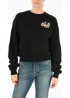Embroidered Crop Sweatshirt
