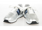 Silver Tone Leather Sneakers
