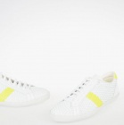 White Yellow Braided Leather Sneakers