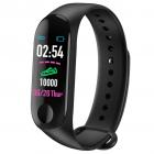 Bratara Smart Fitness Techstar® M3 Plus  Unisex   Monitorizarea Sangelui Si Ritmului Cardiac  Pentru Android Si Ios  Negru