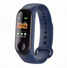 Bratara Smart Fitness Techstar® M3+  Unisex   Monitorizarea Sangelui Si Ritmului Cardiac  Pentru Android Si Ios  Albastru Inchis