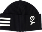 Black Cap With 3 stripes Logo