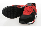 Fabric And Leather Running Sneakers