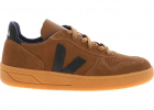Branded Suede Sneakers In Brown And Black