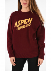 Wool And Cashmere Blend Sweater With Aspen Colorado Embroide