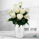 Buchet De 9 Trandafiri Albi